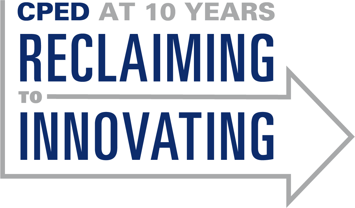 CPED 10th anniversary logo