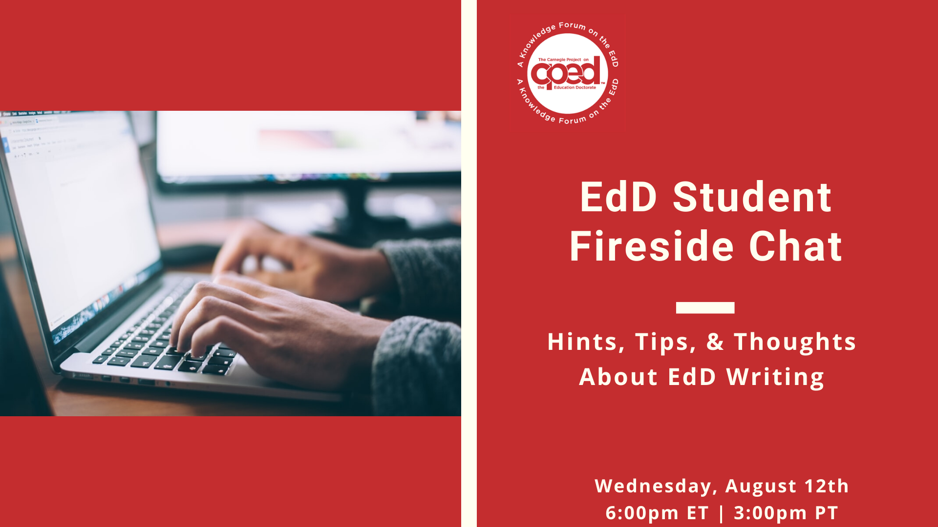 EdD Student Fireside Chat: Hints, Tips, and Thoughts About EdD Writing