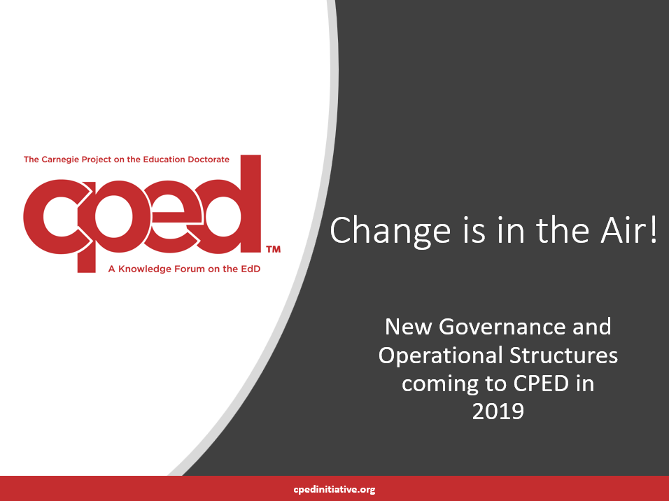 New governance changes presentation cover